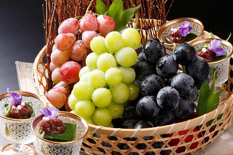 葡萄デザート盛り